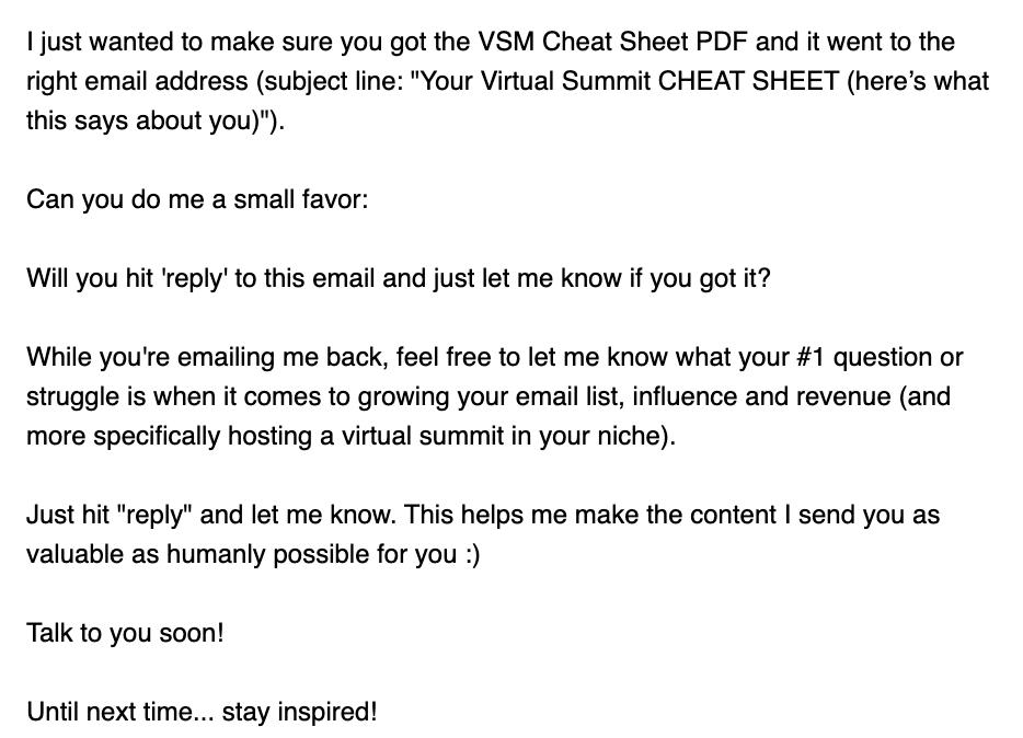 E-Mail Marketing Beispiel Beziehungsaufbau